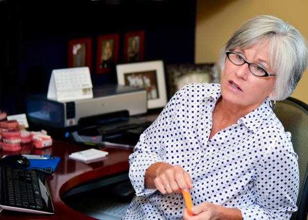 Cindy at Desk